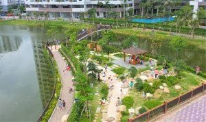 Khu vườn Nhật tại Mizuki Park là địa điểm dạo bô, hóng mát thú vị của cư dân Mizuki Park
